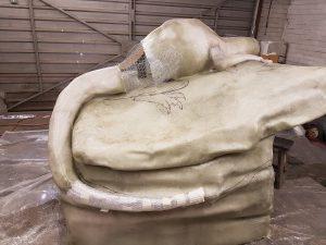 Fibre glass, torso, tail, Incredible-Creations, Victoria Morris, Lee Nicholson, Dragon, Sculpture, Climbing, climbable