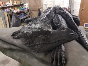 Black, base coat, Incredible-Creations, Victoria Morris, Lee Nicholson, Dragon, Sculpture, Climbing, climbable
