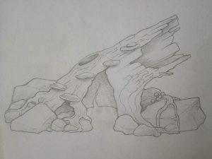 Log, Concept Sketch, Incredible-Creations, Victoria Morris, Lee Nicholson, Dragon, Sculpture, Climbing, climbable