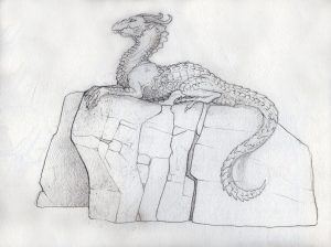 Dragon Rock, concept sketch, Incredible-Creations, Victoria Morris, Lee Nicholson, Dragon, Sculpture, Climbing, climbable